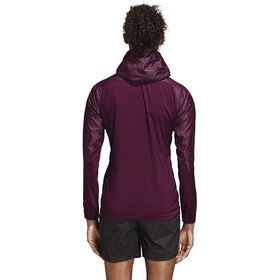adidas TERREX Agravic Alpha Jacket Women Red Night